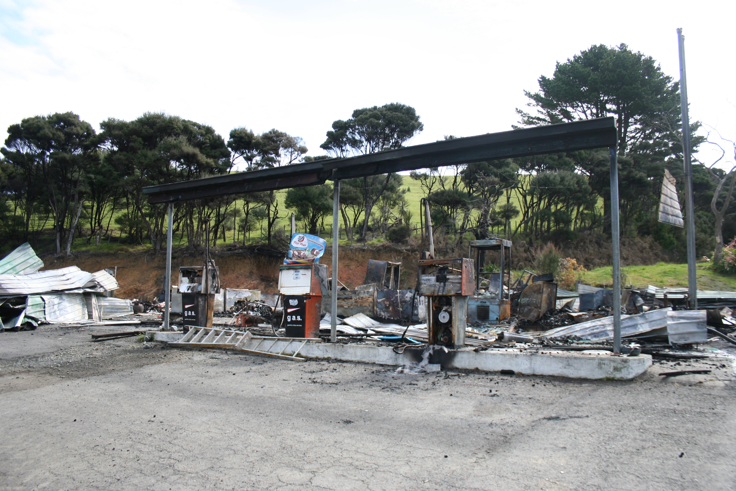 Waitiki Landing Service Station After A Fire Gutted It In 2011 NORTHERN NEWS STUFF
