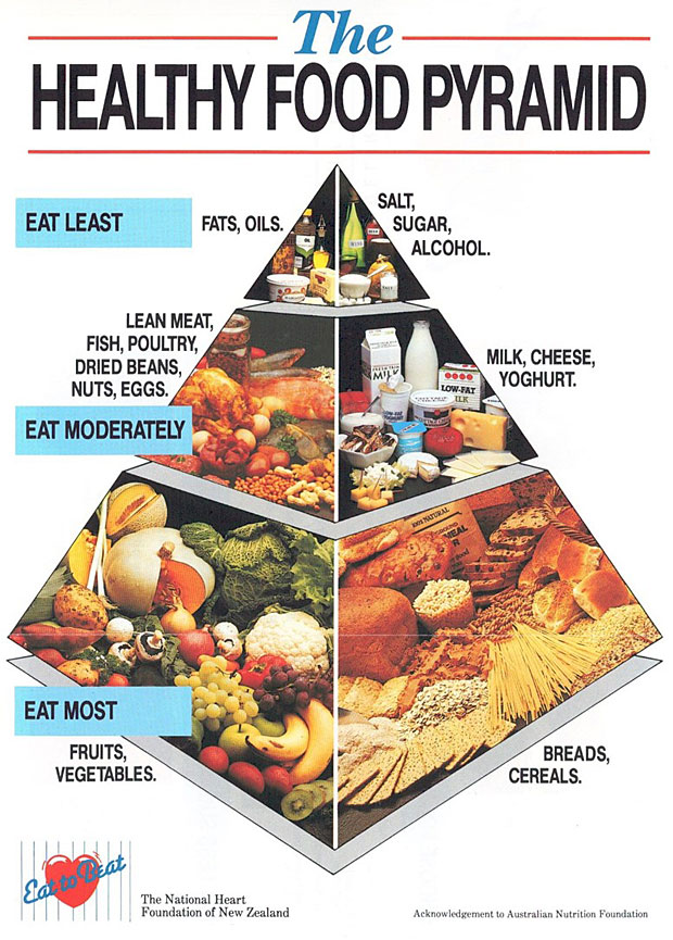 Healthy Food Pyramid Nz Printable