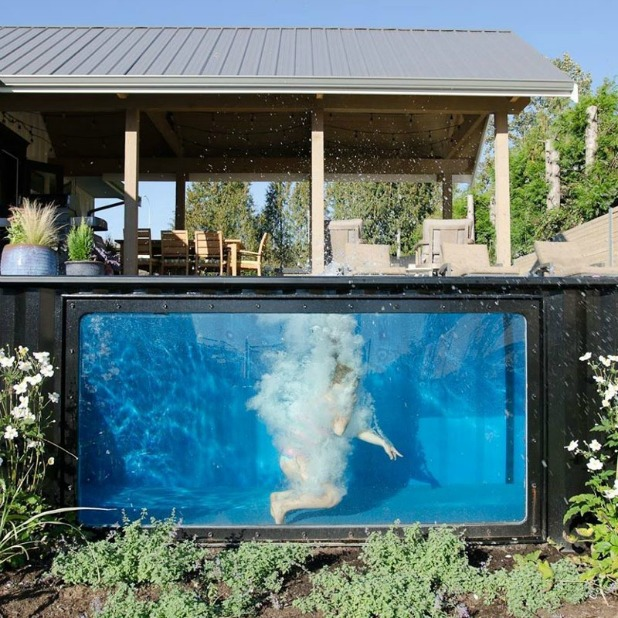 shipping containers can make great swimming pools. Black Bedroom Furniture Sets. Home Design Ideas
