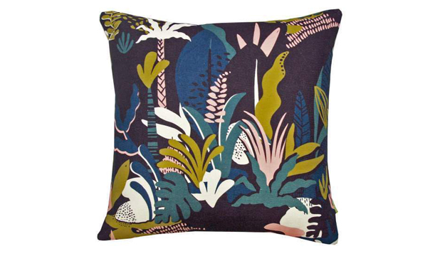 Rumble in the jungle cushion designed by Nellie Ryan