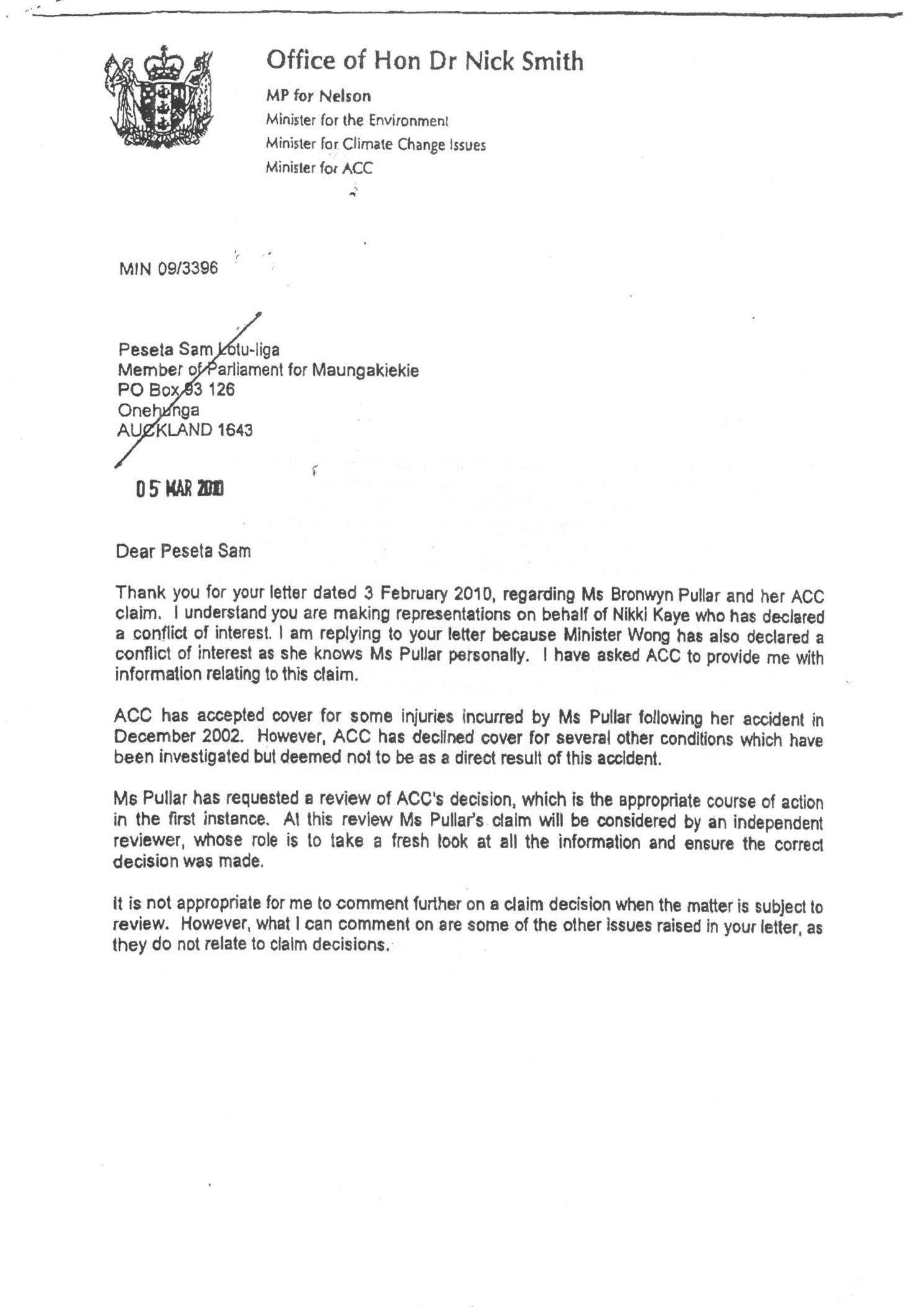 Opposition Parties Back Nick Smith S Inquiry Call Stuff