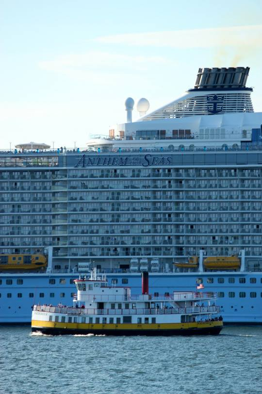 The Biggest Cruise Ship To Visit New Zealand Is Dwarfed By