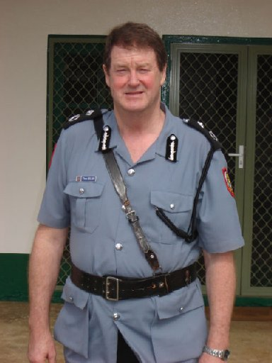 Chris Kelley, the first palagi Police Commissioner, now working for Dunedin police.
