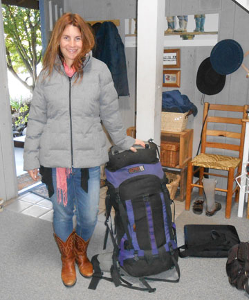 Gwyneth Hyndman last year preparing to leave Southland and New Zealand