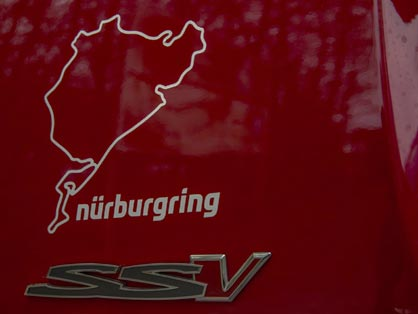 Nurburgring track on VF ute