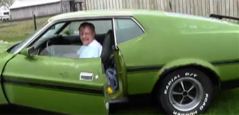 Son reunites dad with long-lost Mustang