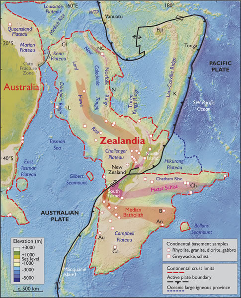 New zealand actually sits on a continent called zealandia its zealandia has a continental crust thickness ranging from 10 30km getting up to more than 40km under parts of the south island sciox Gallery