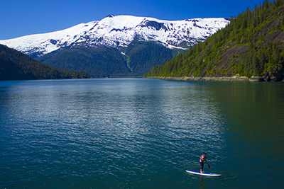 Paddle boarding in Alaska