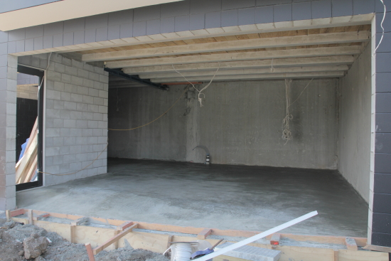 garage poured wide