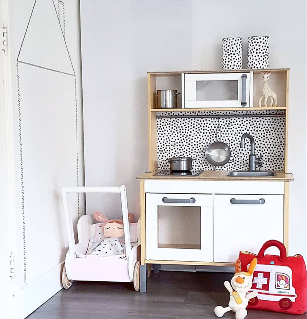 a polka dot backsplash gives this edition a contemporary upgradephoto instagram - Ikea Play Kitchen