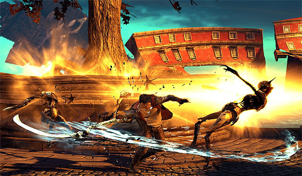 As with past Devil May Cry games, players receive more points depending on how creatively they   defeat an enemy.