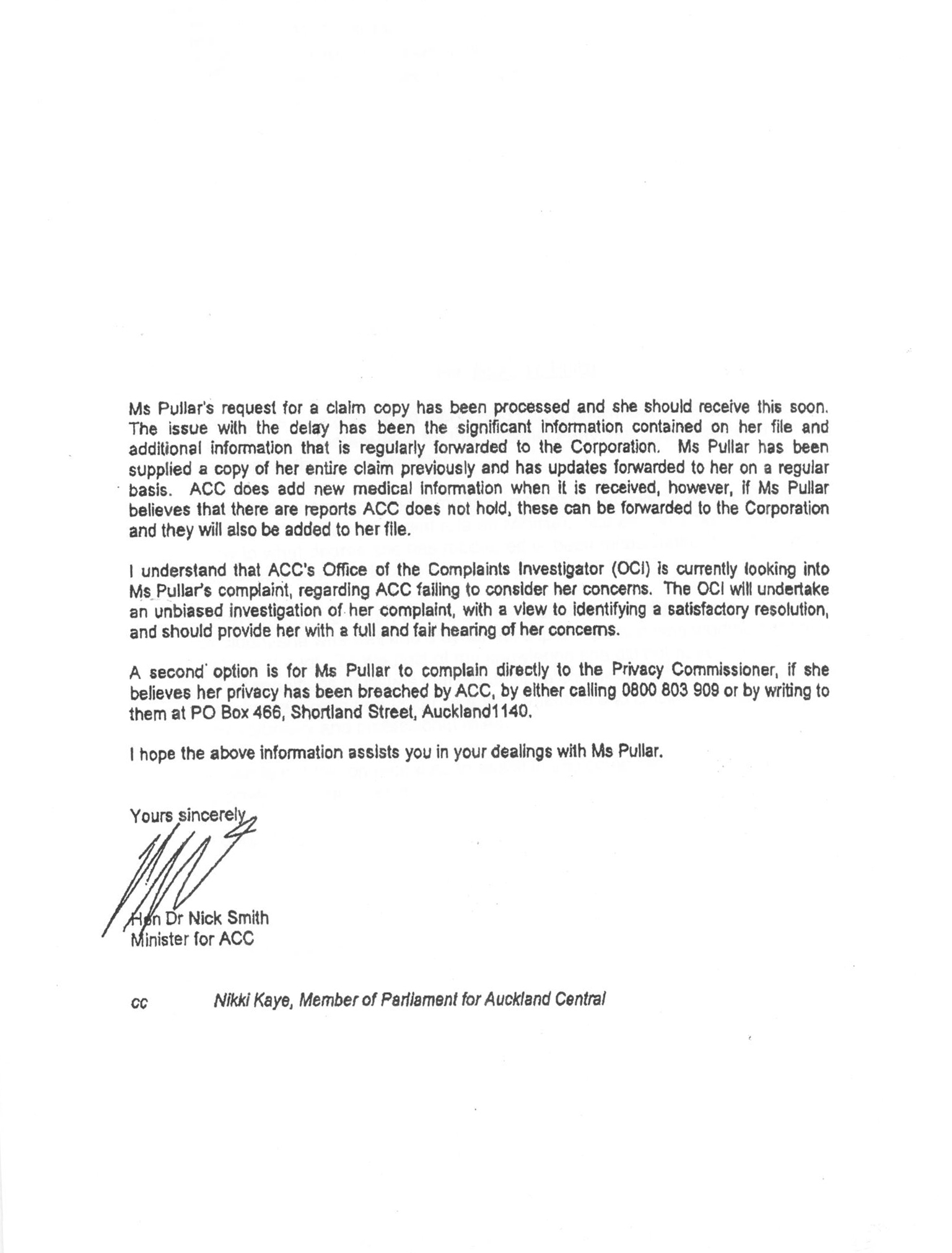 opposition parties back nick smith s inquiry call stuff co nz letter 4