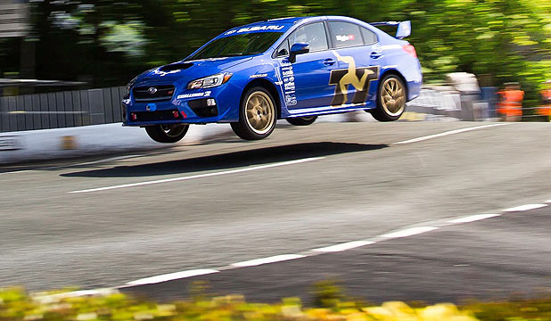 Subaru WRX races Isle of Man